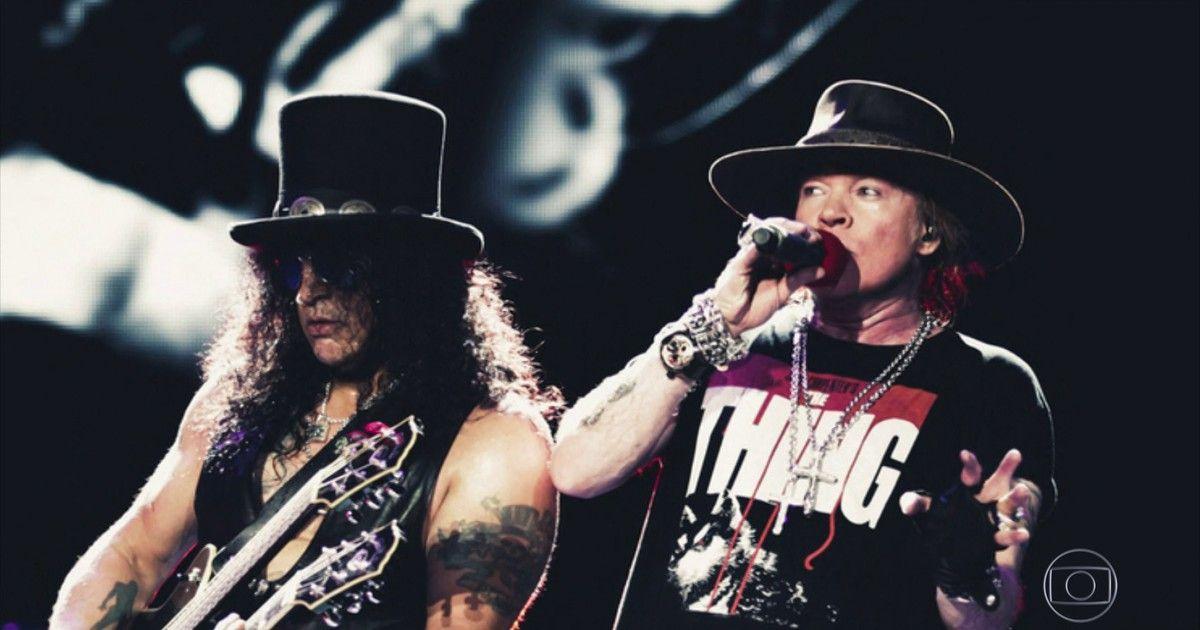 Axl E Slash Voltam Ao Brasil Com A Formacao Classica Do Guns N