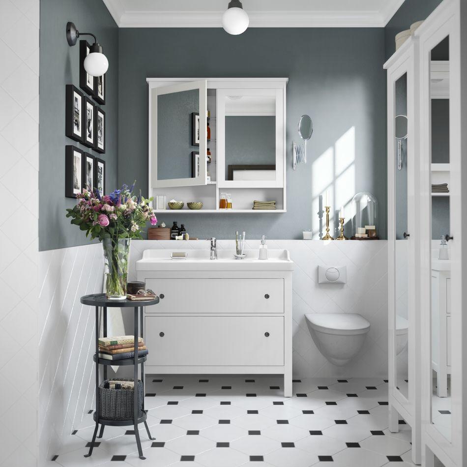 Vanity And Half Wall Tiles Bathrooms Remodel Bathroom Interior Design Bathroom Interior