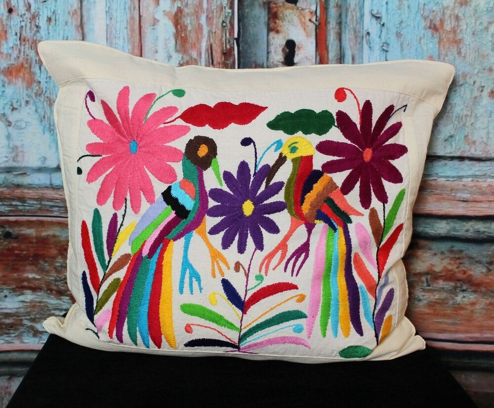 Otomi Decorative Pillow Cover Hand