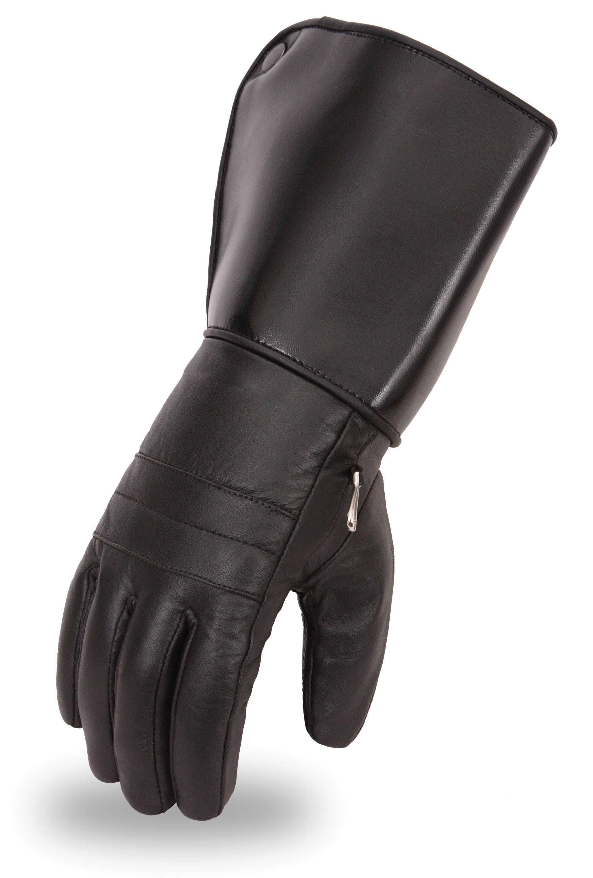 Buy leather gauntlet gloves - Fmc Cold Weather Men S Thinsulate Leather Motorcycle Gauntlet Gloves Http Www