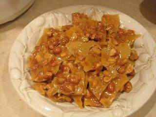 Microwave peanut brittle. Yum! From author @Peg Cochran Mystery Lovers' Kitchen