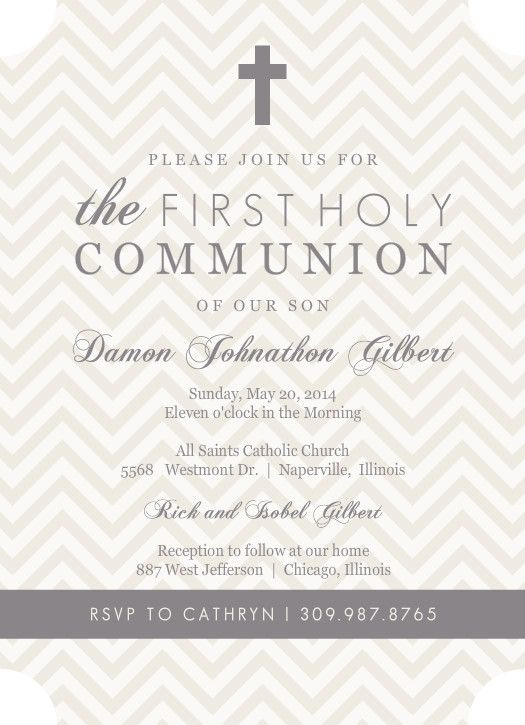 What To Write In A First Communion Card: Greeting, Thank