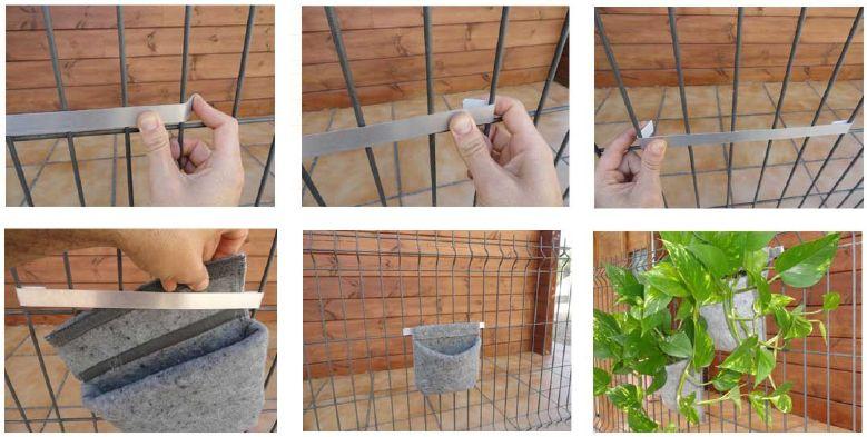 Huerto vertical con material reciclado dyi pinterest for Jardin vertical reciclado