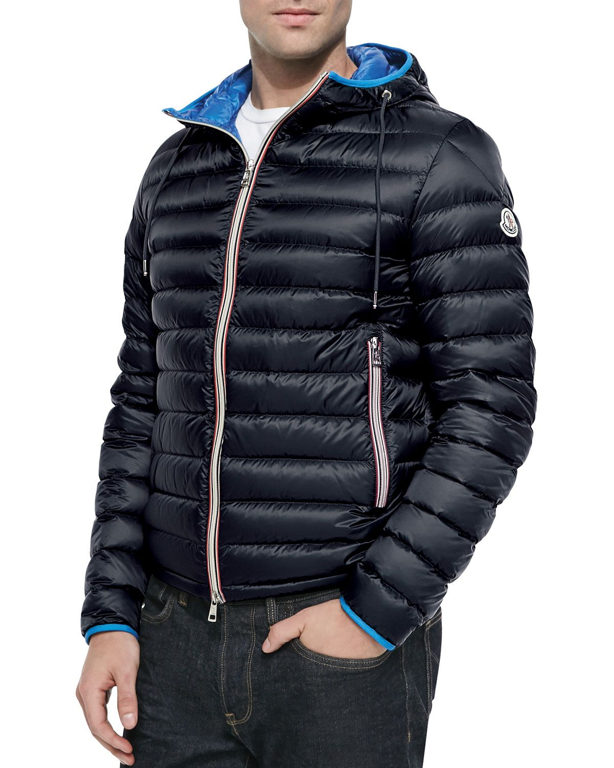 1dd7ed653 Athenes Hooded Puffer Jacket Navy | *Outerwear > Coats & Jackets ...