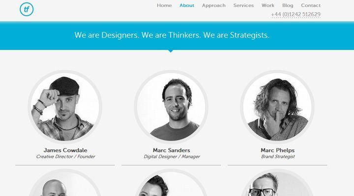 50 Web Layouts For Showcasing Company Teams Employees Webpage Layout Photo Layouts Web Layout