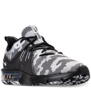 af51ce3ae73 Nike Men s Air Max Sequent 3 Premium Camo Running Sneakers - Black ...