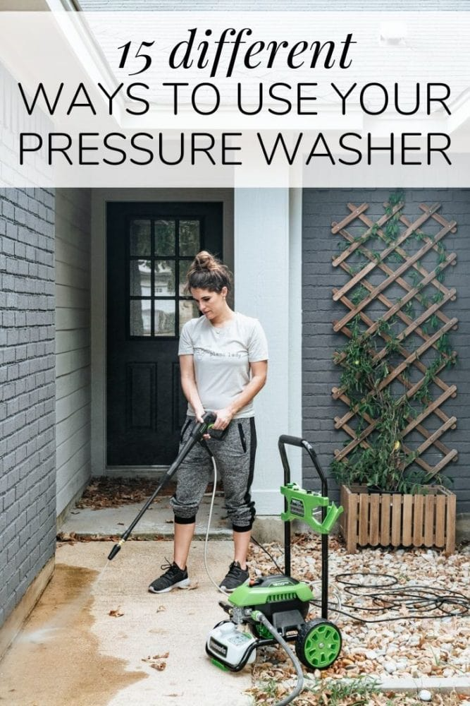 How to use a pressure washer - 15 ideas for ways you can use it around the house to get everything clean #homemaintenance #pressurewasher #homeowner
