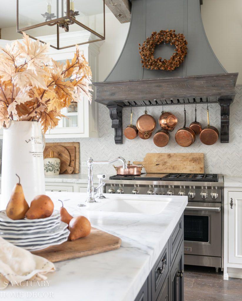 Farmhouse Kitchen Fall Decorating Ideas - Sanctuary Home Decor in