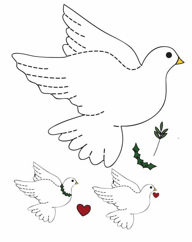 molde da pomba da paz para imprimir pesquisa google thmes
