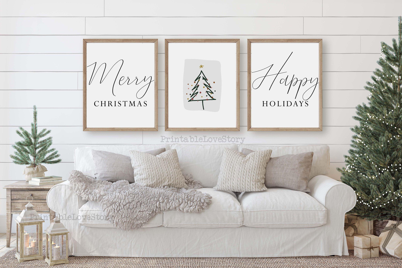 Modern Christmas Decorchristmas Wall Artminimalist Christmas Etsy Minimalist Christmas Decor Modern Christmas Decor Christmas Wall Art
