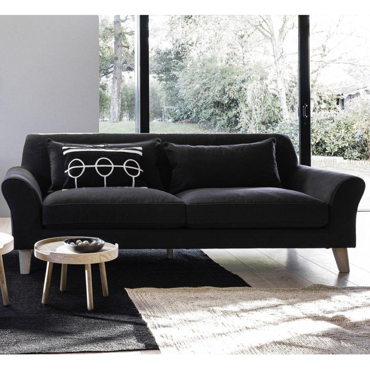 canap fixe maud toile coton lin meubles et d co la. Black Bedroom Furniture Sets. Home Design Ideas