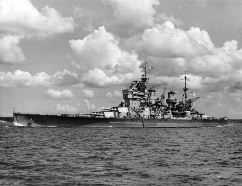HMS Howe at Auckland, New Zealand, 2-10 Feb 1945