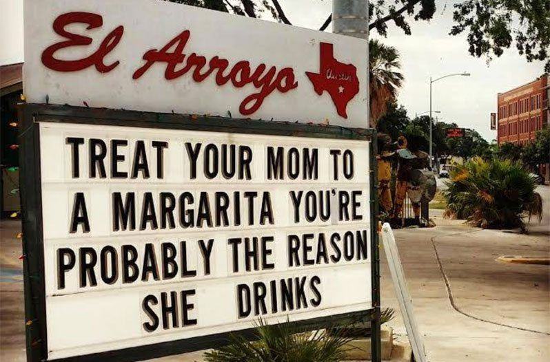 Latest Funny Signs This Texas Restaurant Makes Funny Signs Every Day, And Now They're in a Book Austin's El Arroyo has a reputation for their quippy daily signs, and now their funny signage is getting its own book just in time for the holidays. 2