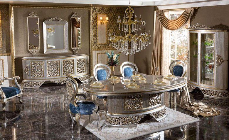 Silvera Yemek Odasi Takimi Dining Room Decor Elegant Classic Dining Room Furniture Upscale Living Room Furniture