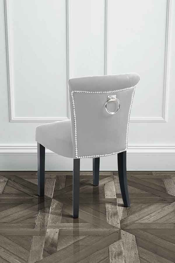 Positano Dining Chair With Back Ring Silver Study