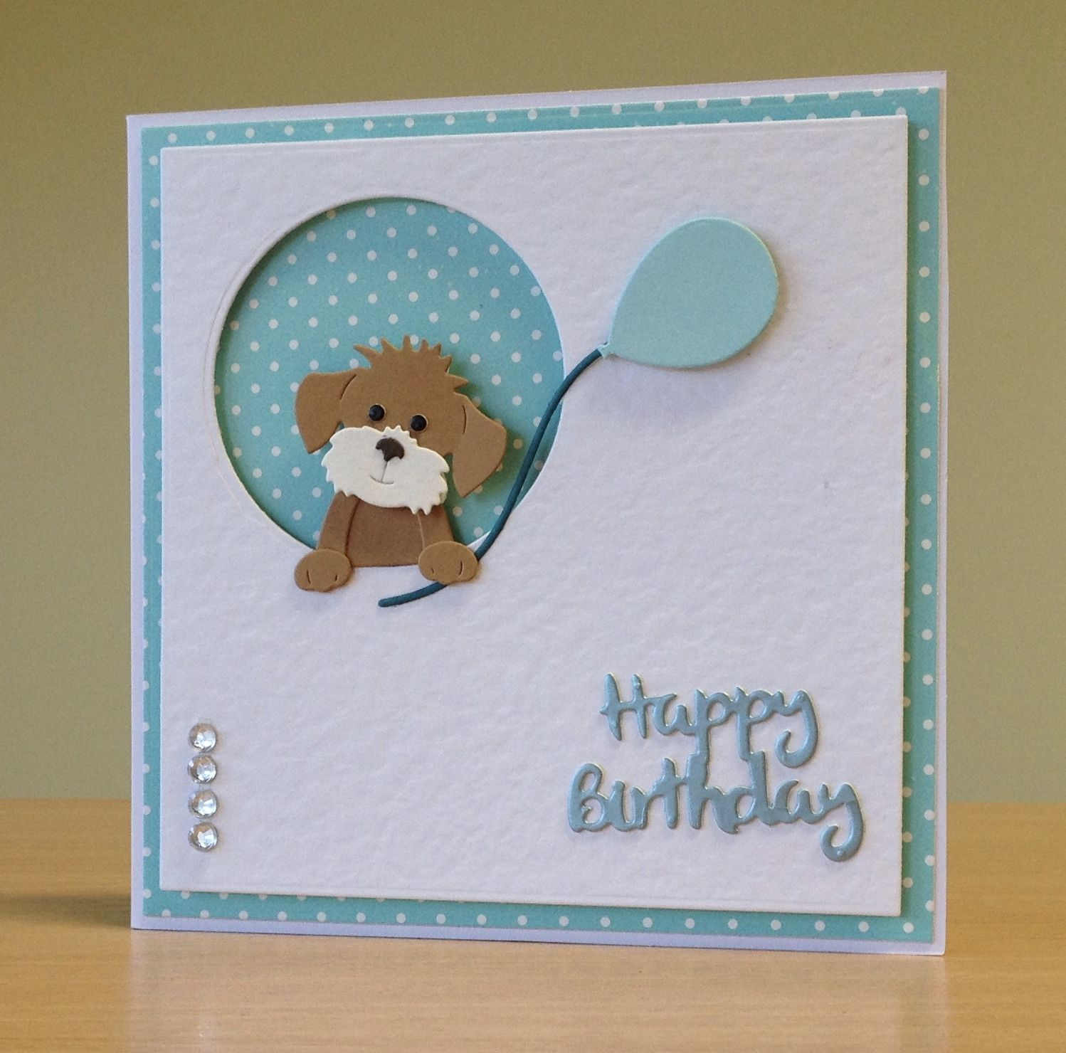 Astonishing Birthday Card Handmade Cottage Cutz Dog Die For More Of My Personalised Birthday Cards Veneteletsinfo