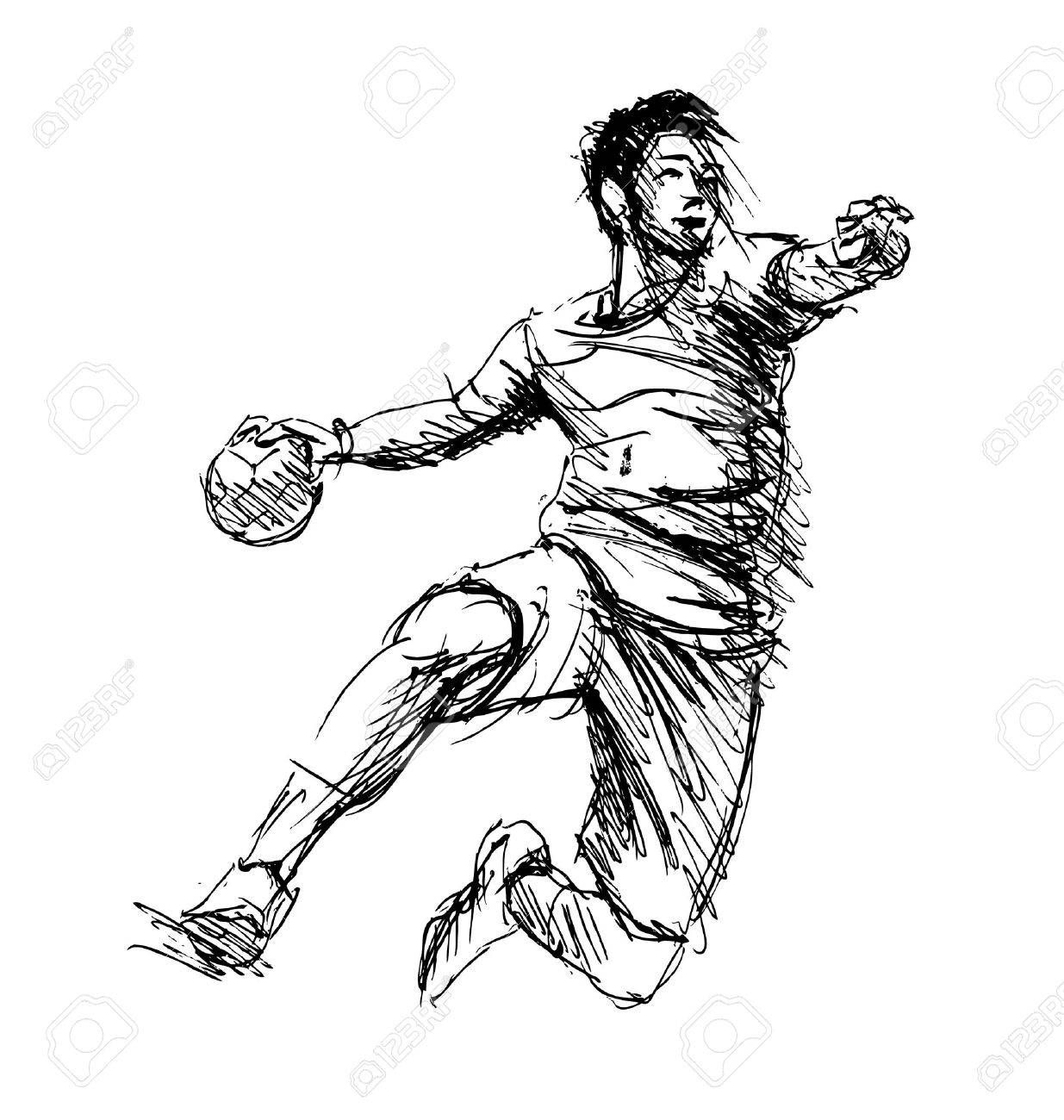 Bilderesultater For Handball Shooting Form Draw Handball Handballtraining Handballspieler