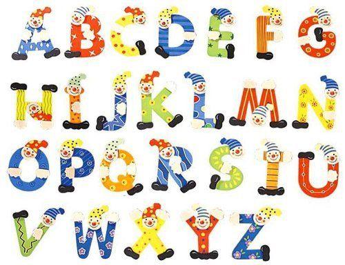 Inware 21967 Holzbuchstaben Clown Design, Buchstaben