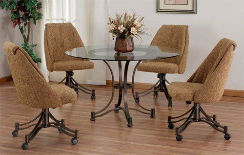 Kitchen Tables And Chairs With Wheels Comfortable Dining Chairs