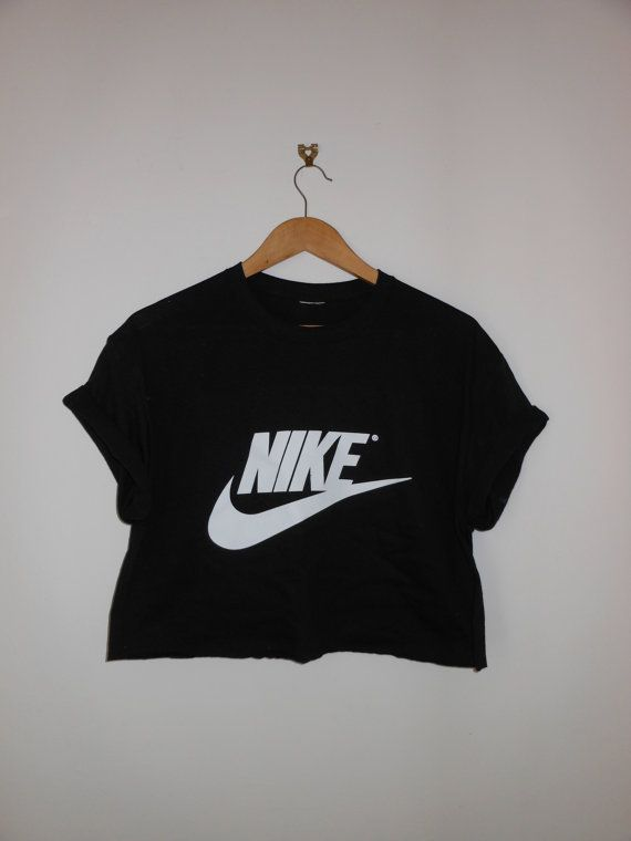 classic black nike swag style crop top by