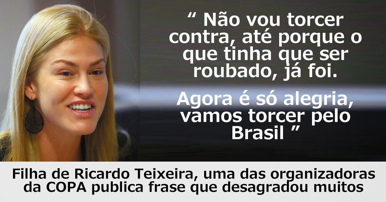 SBT █: Joana Havelange publica texto polêmico sobre roubos do PT na copa