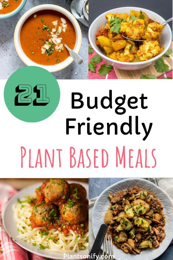 21 Quick & Easy Plant Based Family Meals That Are Budget Friendly #plantbasedrecipesforbeginners