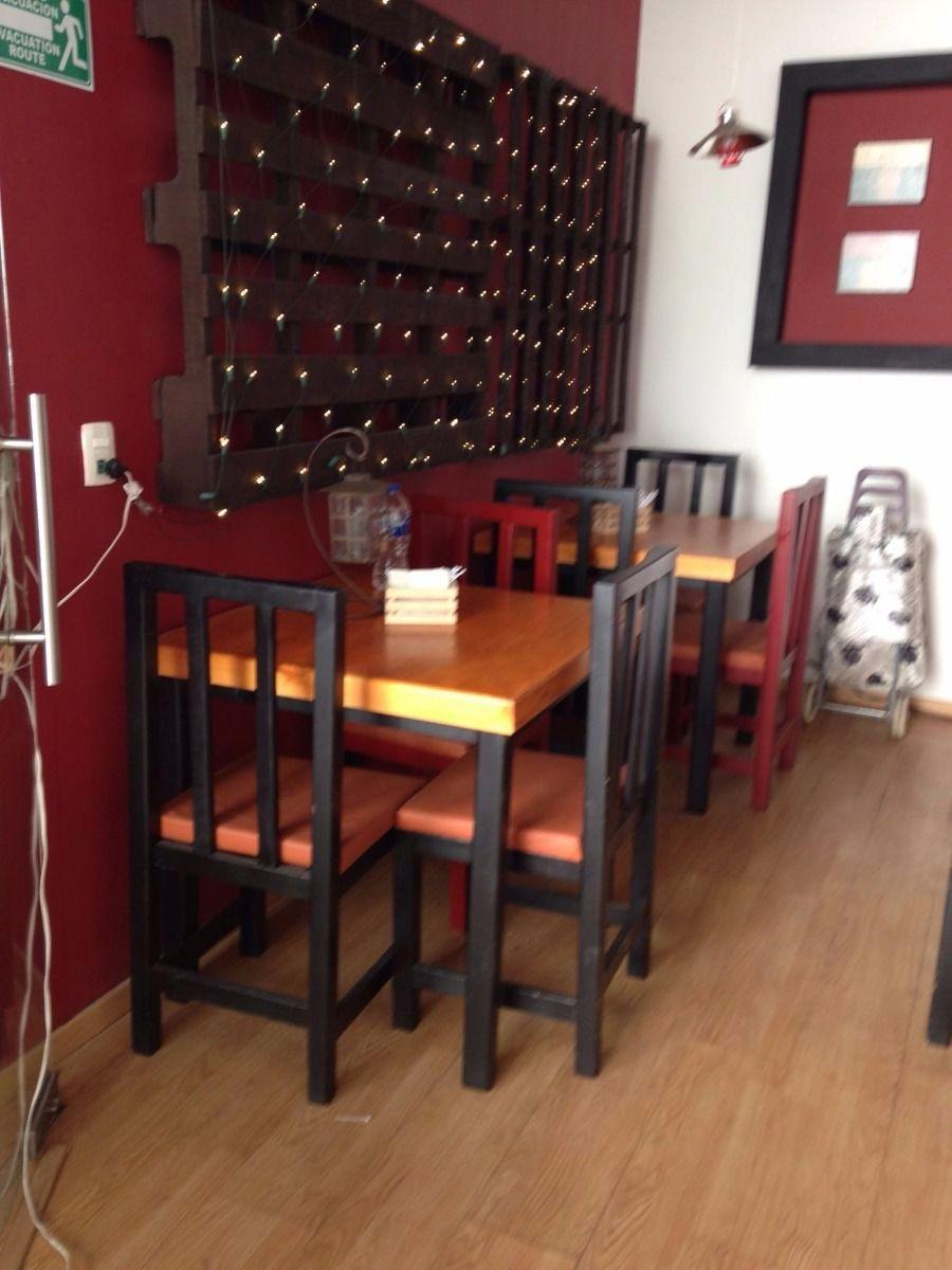 Juego de mesas para cafeteria o restaurant 3 en for Mobiliario para cafes