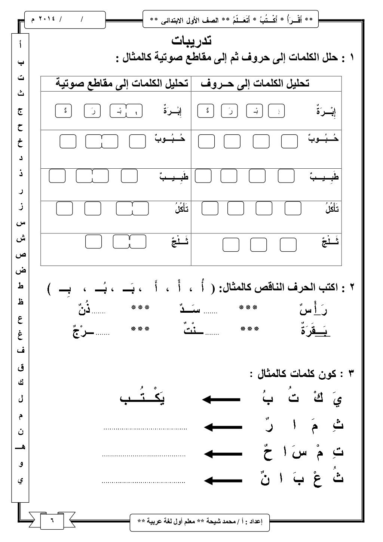شرح منهج اللغة العربية للصف الأول الابتدائى ترم اول Arabisch Lernen Arabische Sprache Arabisch