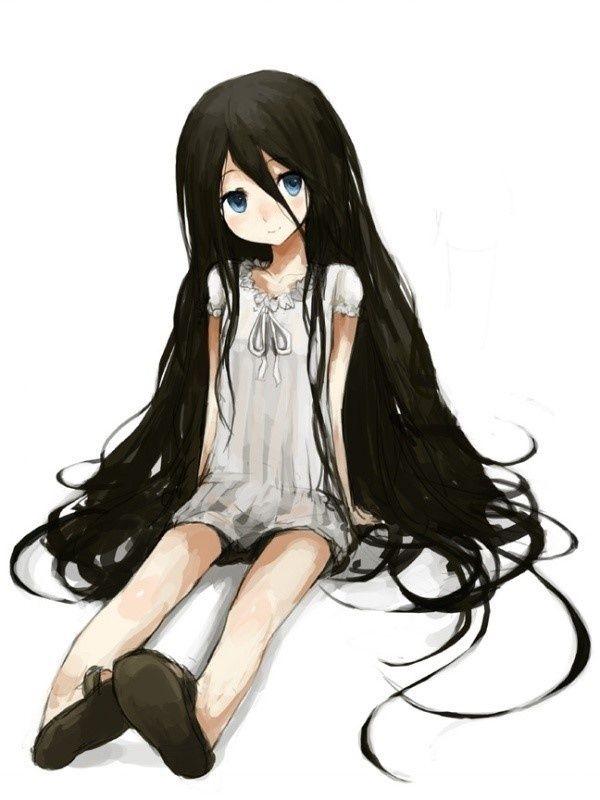 cute anime girls with black hair