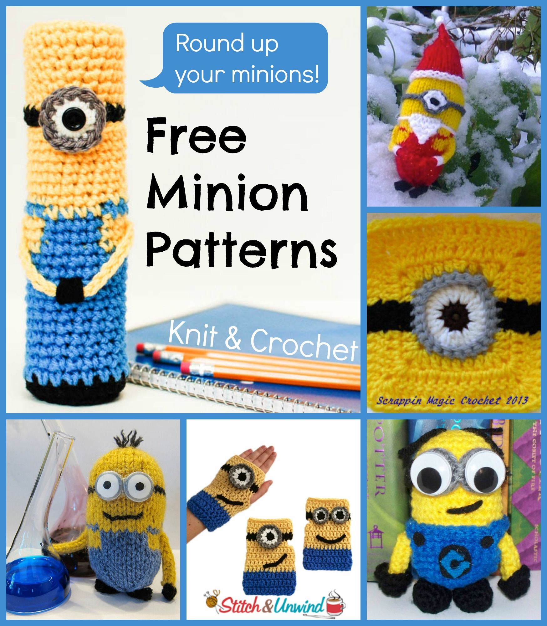 Despicable Me: 6 Free Minion Patterns Hard at work, Toys ...