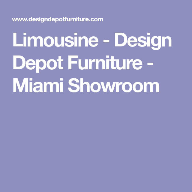 Upholstery · Limousine   Design Depot Furniture ...