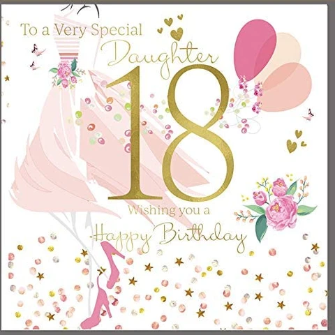 18th Birthday Card Daughter 18th Birthday Cards 18th Birthday Birthday Cards