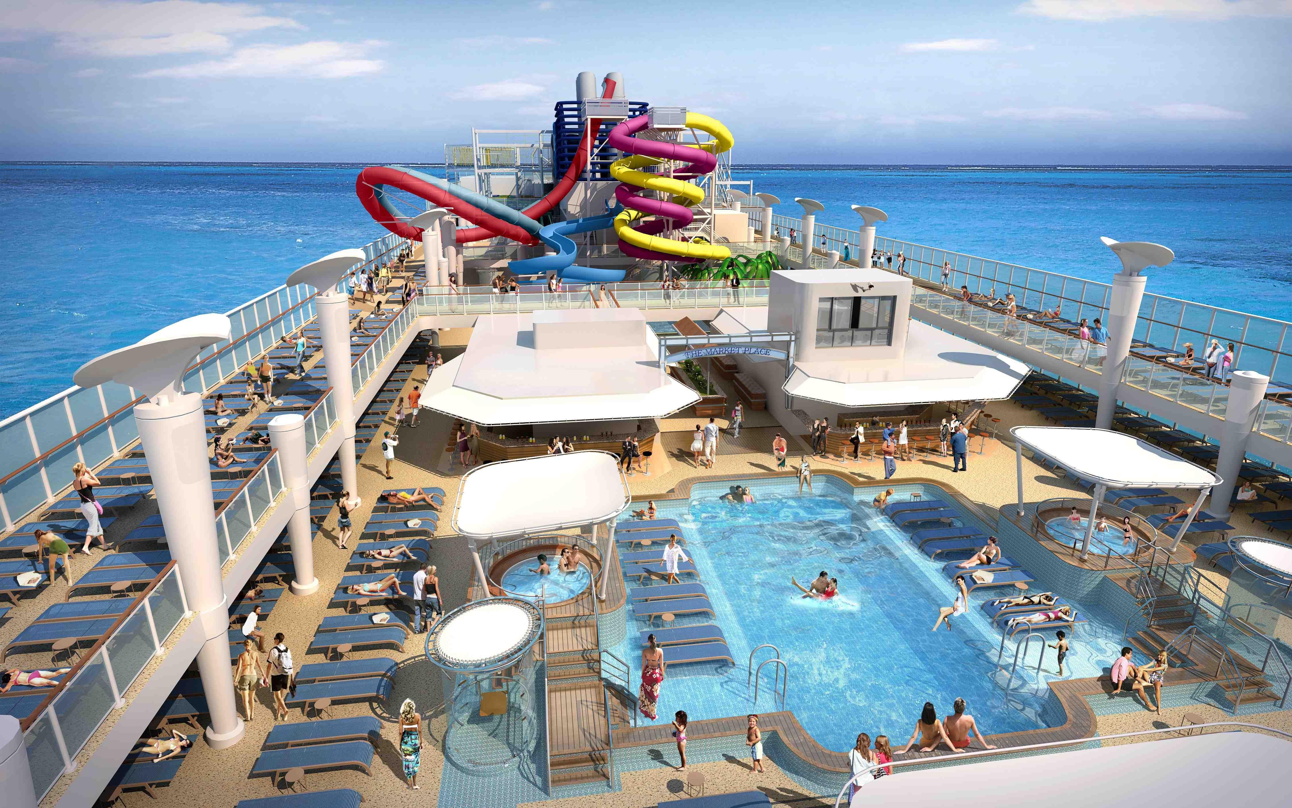 Norwegian Breakaway Pool Deck Norwegian Epic Pinterest Norwegian Breakaway Cruises And