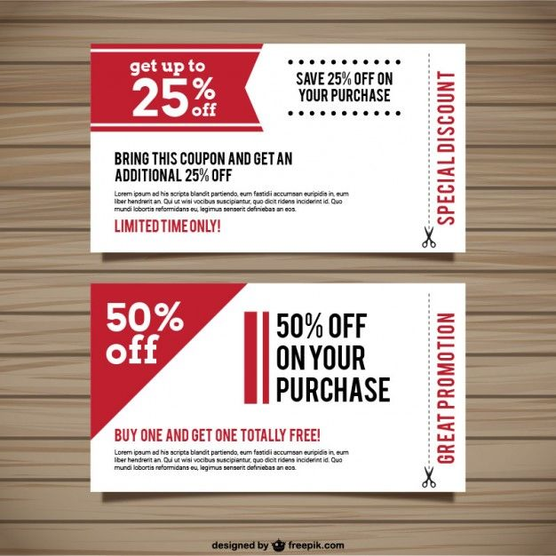 Special Discount Coupons Free Vector Free Vector Freepik Vector Freeshopping Freecoupon Freepromoti Coupon Template Free Printable Coupons Coupon Design