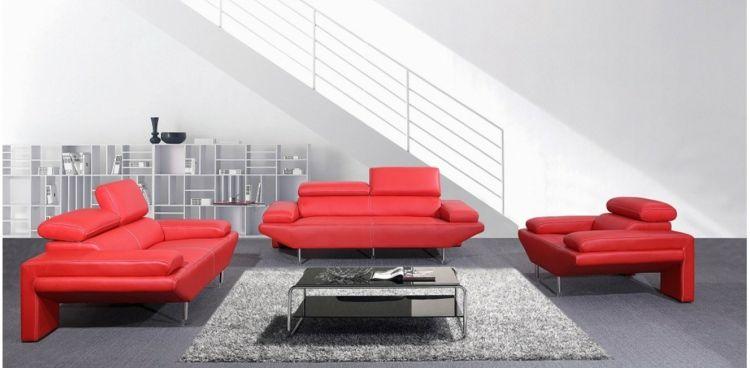 italienisches sofa italienische designermöbel wohnzimmer set rot - wohnzimmer orange rot