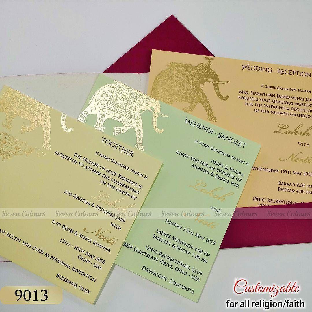 Elephant Theme Wedding Inserts Weddingcards Weddinginvitation