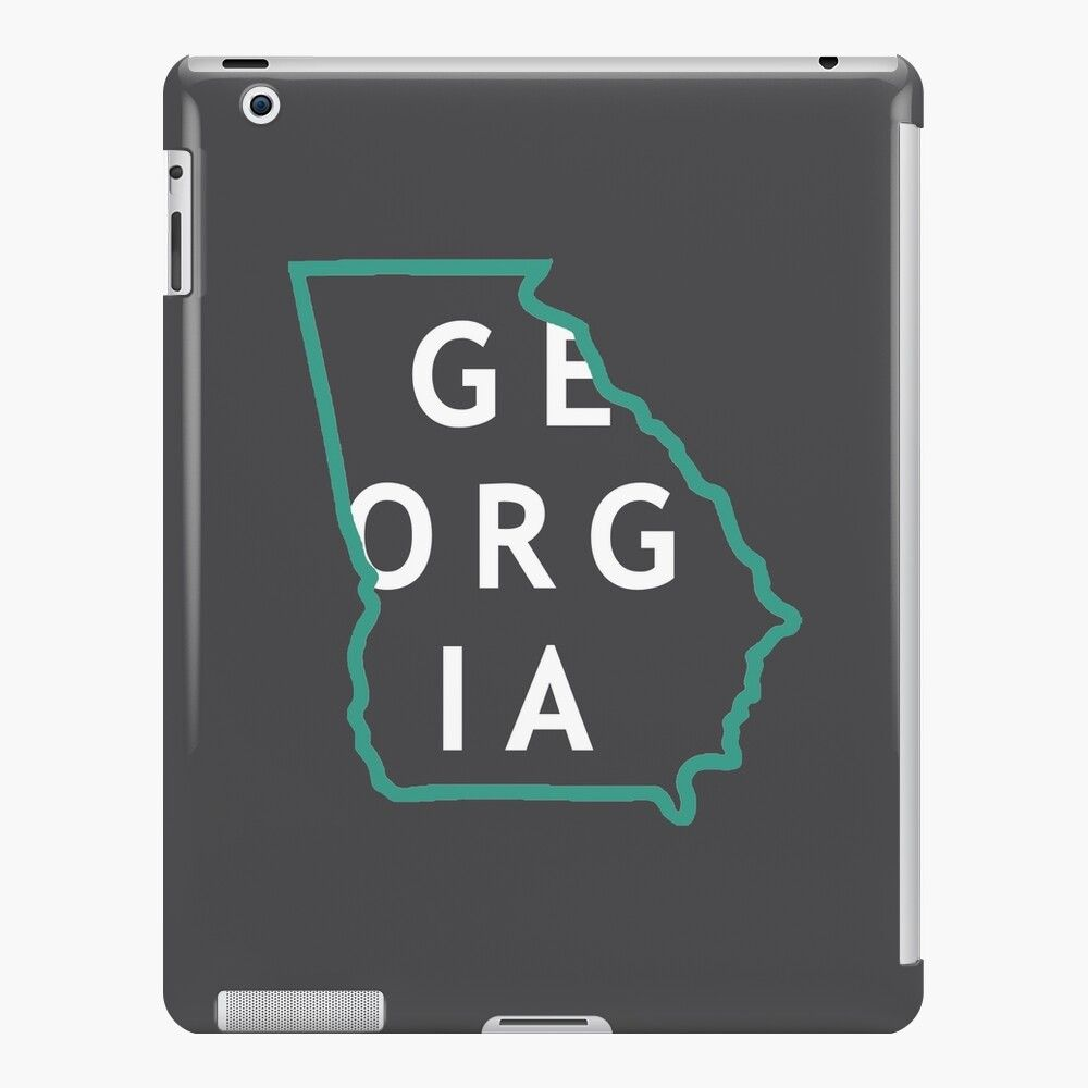 Get My Art Printed On Awesome Products Support Me At Redbubble Rbandme Https Www Redbubble Com I Ipad Case Georgia S State Outline Georgia State Ipad Case