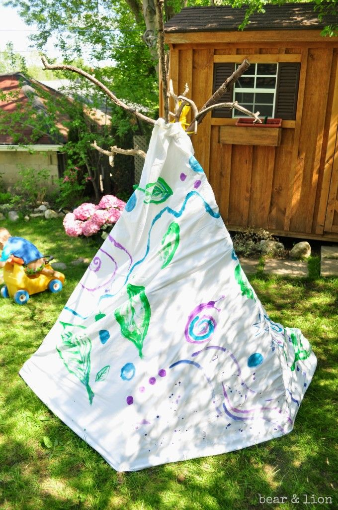 Make Your Own Backyard Teepee!
