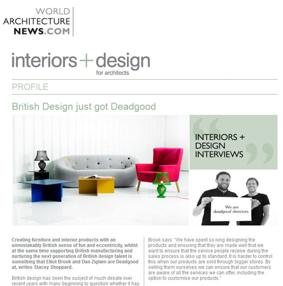 Company Profile A Nice Feature On Us In World Architecture News British Design Trade Publications Design