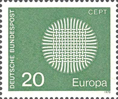 1970 Germania - Europa - (emissione CEPT soggetto comune) - Intreccio di 24 nastri