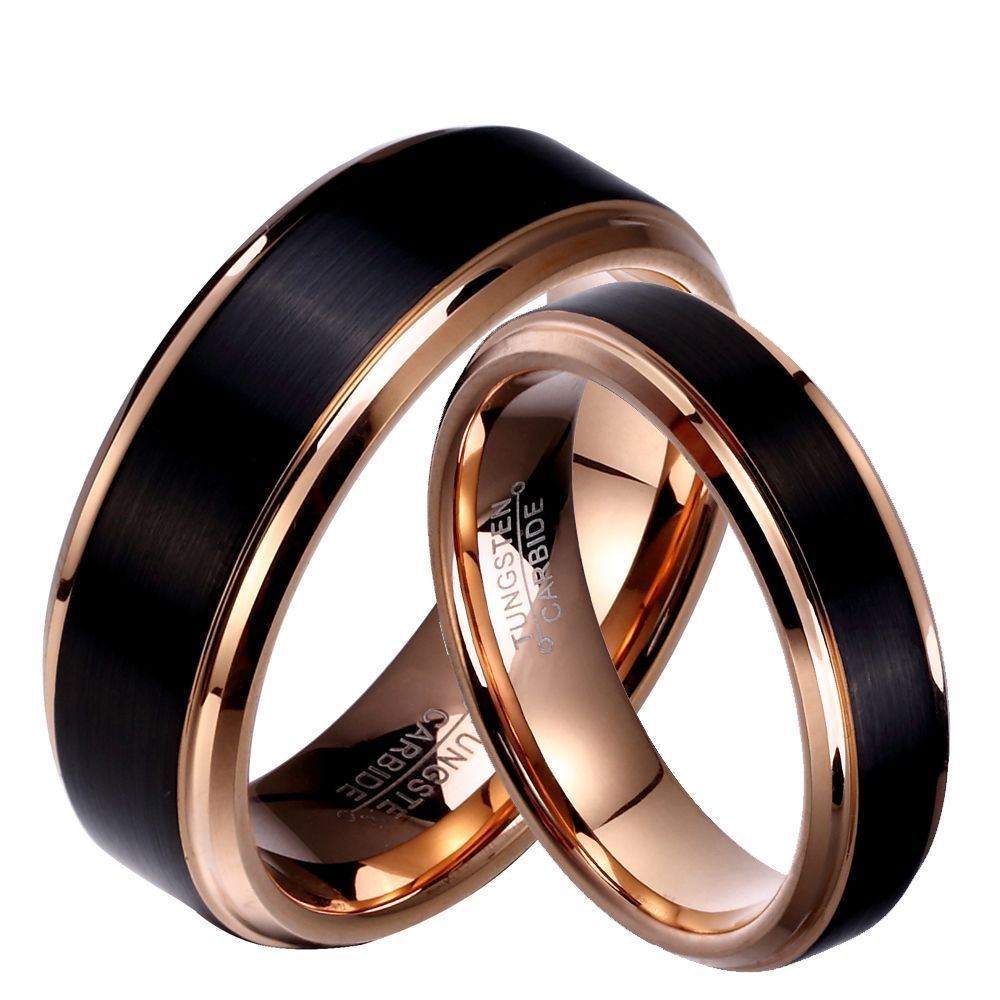 Marriage Wedding Rings Men And Women In 2020 Black Wedding Rings Mens Wedding Rings Black Wedding Band