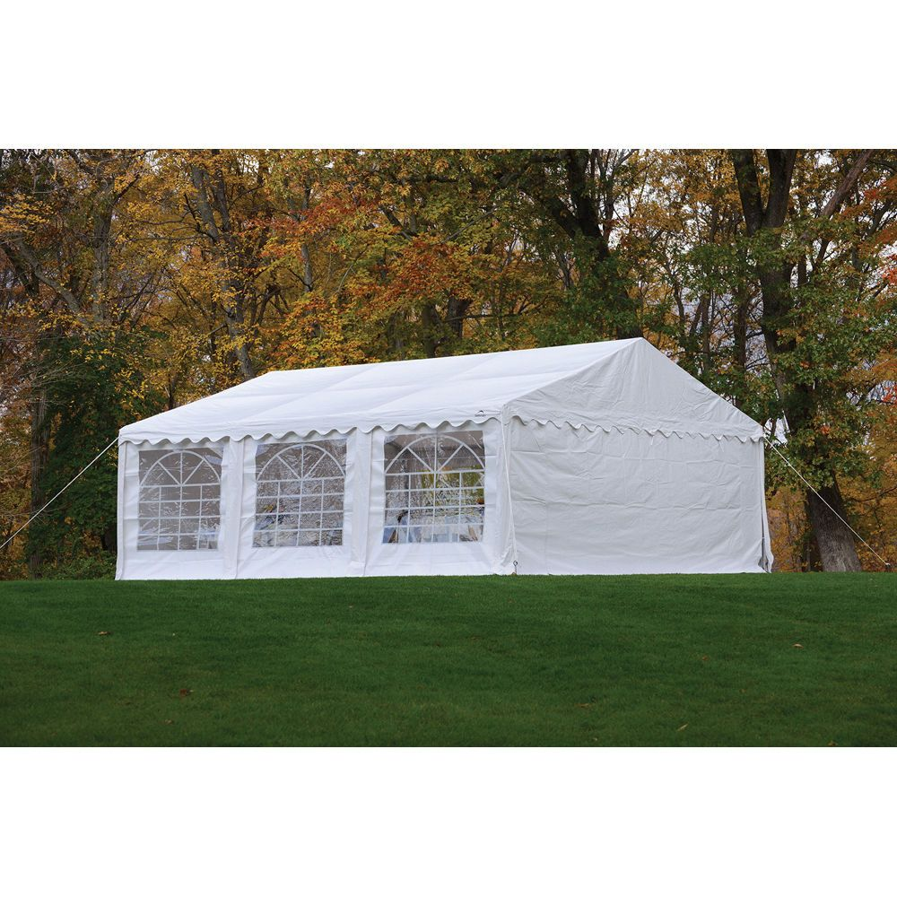 ShelterLogic 20' x 20' White Party Tent Enclosure Kit with