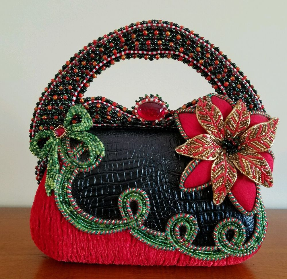 Mary Frances Deck The Halls Holiday Handbag Ebay