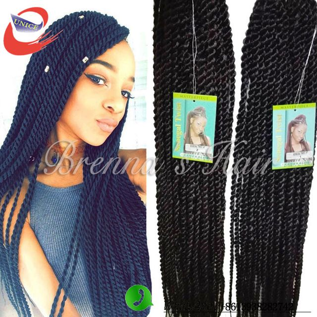 Hot Long Length Ombre Senegalese Twists Hair Synthetic Havana Mambo