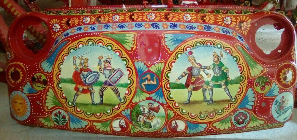 Musetto fiat 500 da parete dipinto a mano stile carretto for Bricolage arredamento