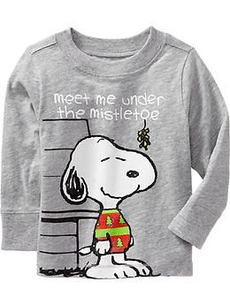 "Snoopy® ""Meet Me Under the Mistletoe"" Tees for Baby 