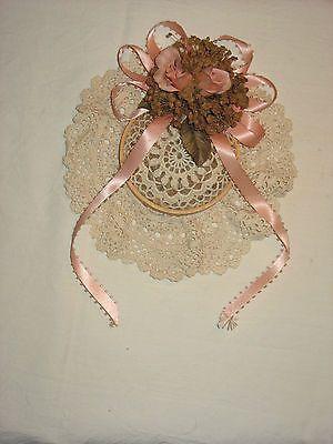 Set of Wicker Lace Jewelry Box Vanity Accessory Potpourri Holder in Pink | eBay