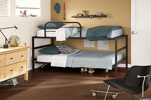 Room Board Bower Loft Twin Bed And Twin Platform With Casters
