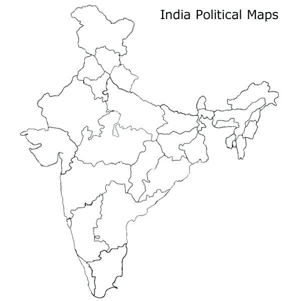 Blank Map Of India Pdf maps political map india outline ...