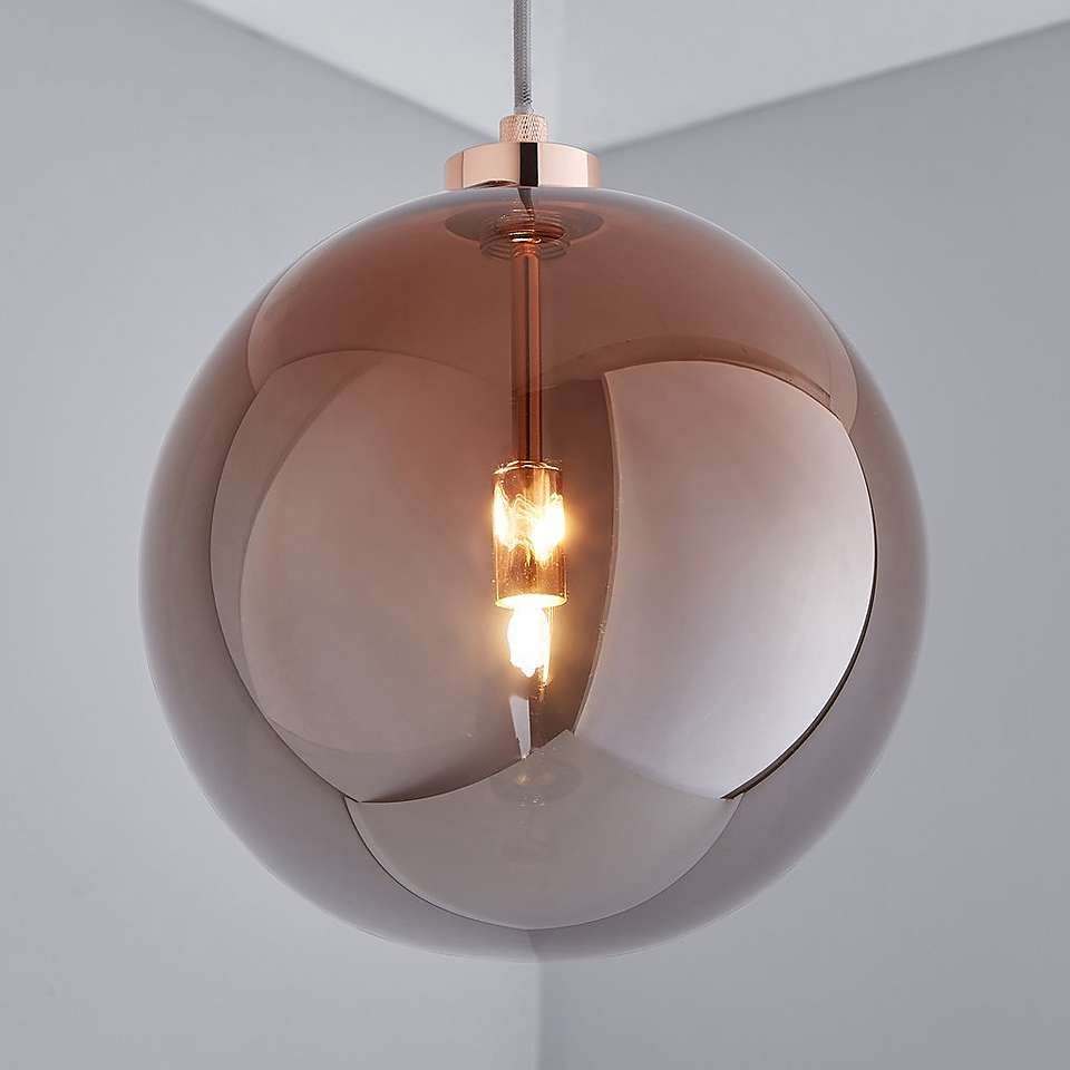 Tanner 1 Light Copper Ceiling Fitting In 2020 Copper Ceiling Glass Light Shades Contemporary